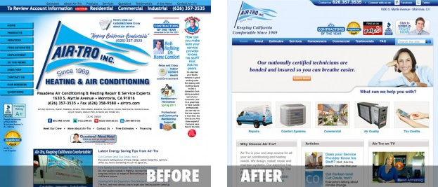 Case Study: Air-Tro Website Redesign